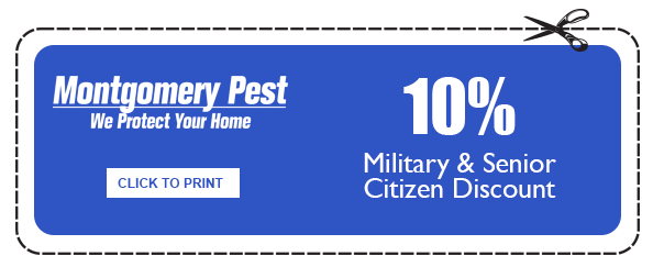 Military & Senior Citizen Discount Coupon by Montgomery Pest Control